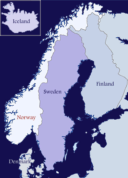 image relating to Printable Map of Norway identified as Norwegian Genealogical Studies - Nordic Genealogical